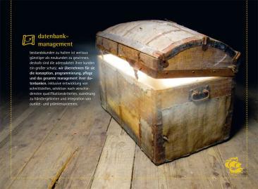 Kolumbus-Logbuch - vollständig individualisierte Imagebroschüre als Kunden-Mailing