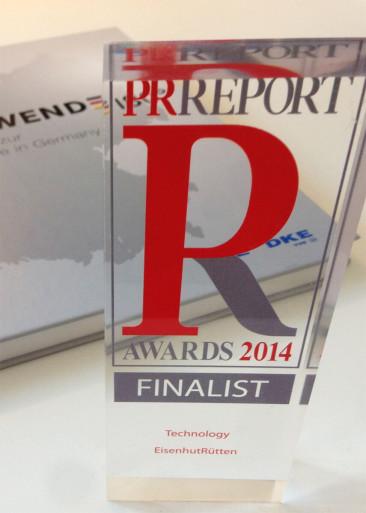 Auszeichnung für die Initiative Energiewende - Finalist beim PR Report Award