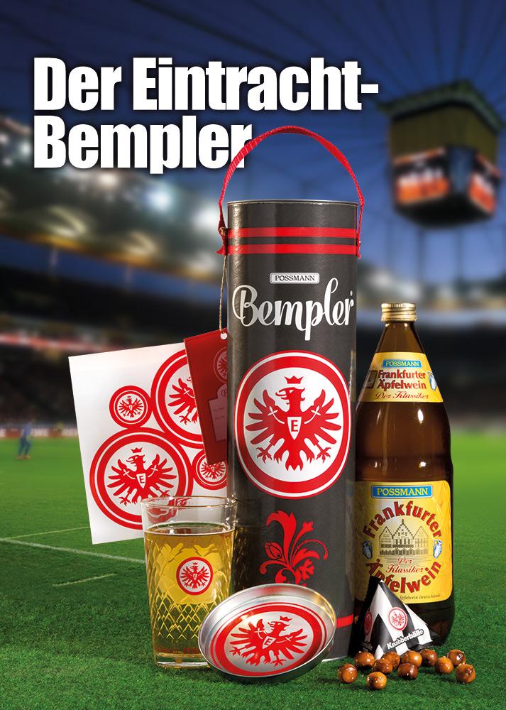 """Produkt-Konzept """"Bempler"""" für Possmann. Jetzt auch für Eintracht-Fans!"""