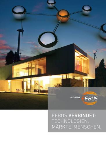 """Imagebroschüre für die Initiative EEBus. """"EEBus verbindet. Technologien, Märkte, Menschen."""""""