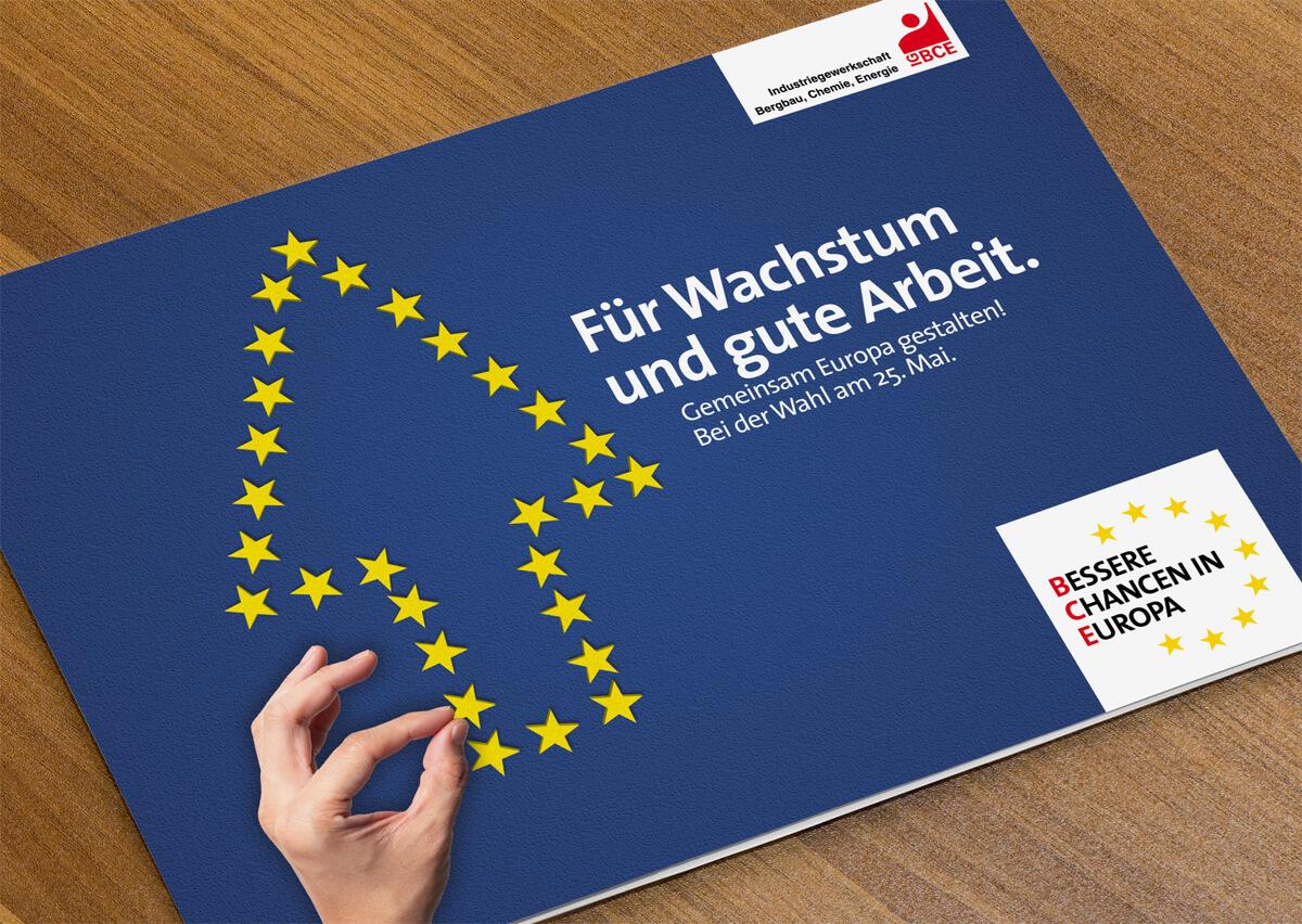 Europawahl-Kampagne der IG BCE - Poster