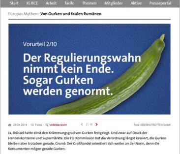 Europawahl-Kampagne der IG BCE - Online-Motiv / Teaser-Banner