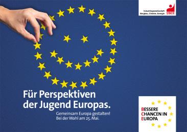 Europawahl-Kampagne der IG BCE - Plakat