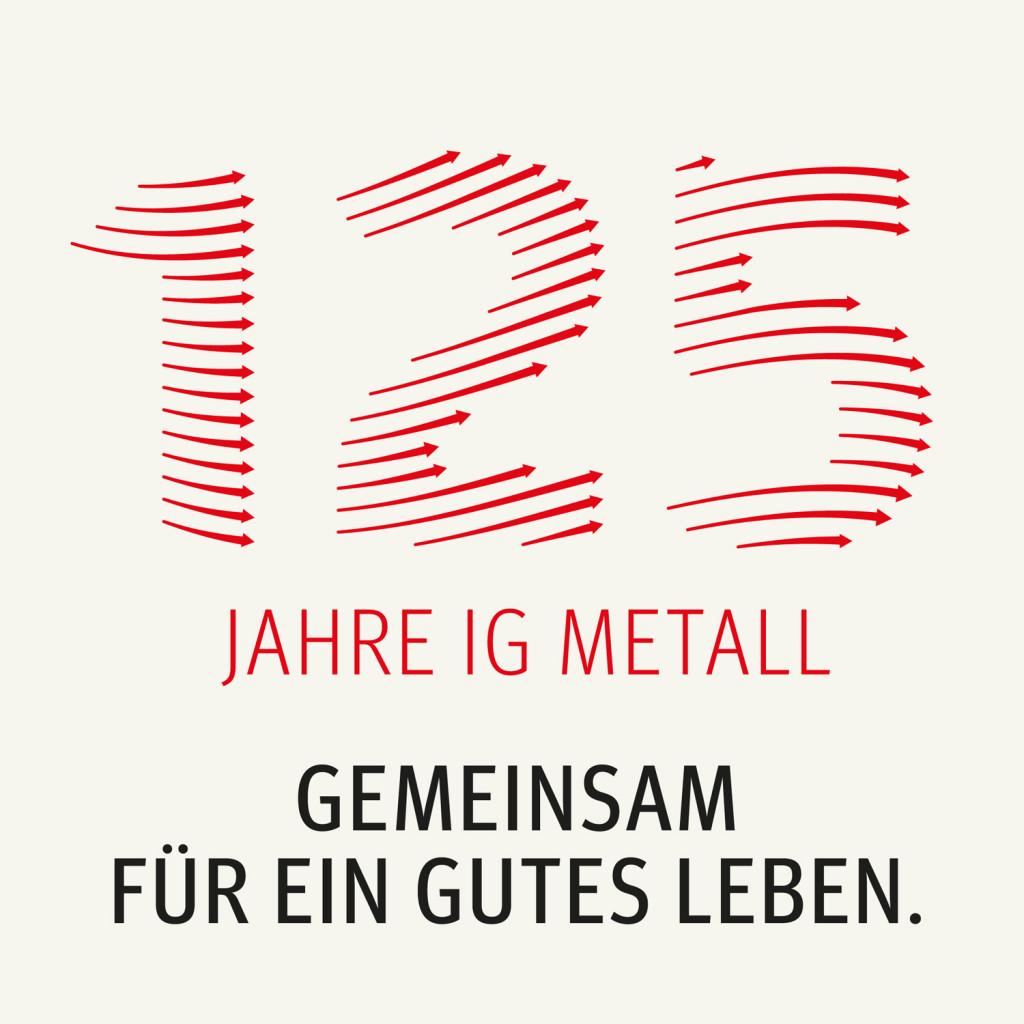 Logo-Entwicklung 125 Jahre IG Metall