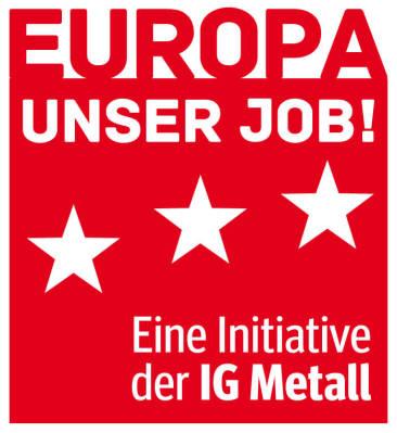 Europawahl-Kampagne der IG Metall - Motto-Entwicklung und Logo-Design