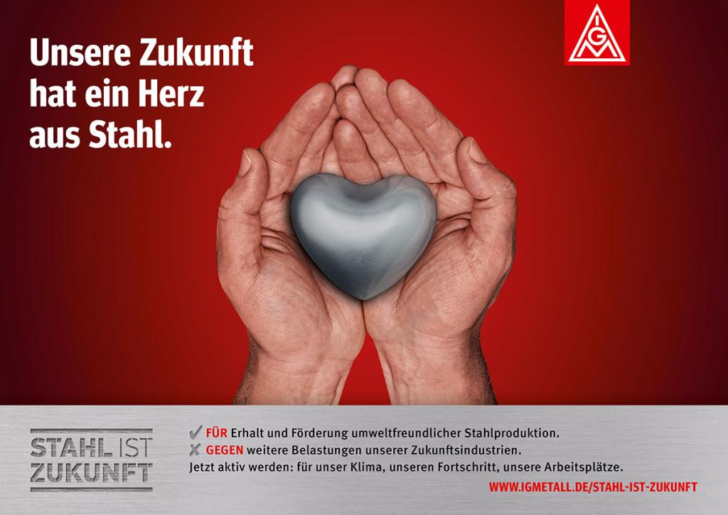 Kampagne zum Stahl-Aktionstag der IG Metall