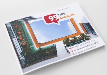 """Reiseführer-Konzept """"99 Tipps"""". Erstausgabe Andalusien."""