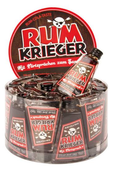 """Produkt-Konzept """"Rumkrieger"""" für Krugmann Spirituosen. Der erste Partylikör mit versteckten Flirtsprüchen."""