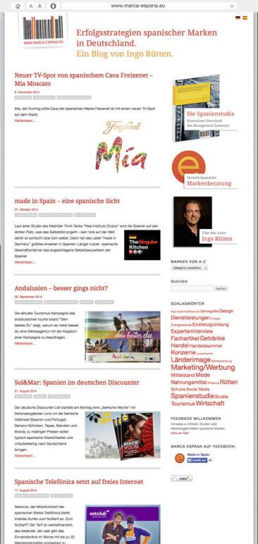 Die Erfolgsstrategien spanischer Marken in Deutschland. Regelmäßig auf unserem Blog www.marca-espana.eu