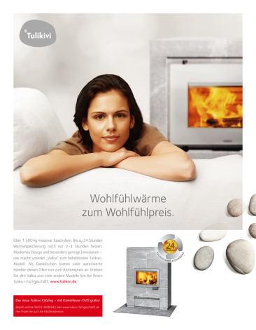 Anzeige für Tulikivi-Specksteinöfen