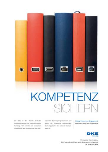 "Key Visual der DKE-Leitsatz-Kampagne zum Thema ""Kompetenz"""