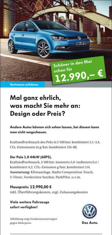 Verkaufsförderungs-Kampagne für VW Handelsmarketing