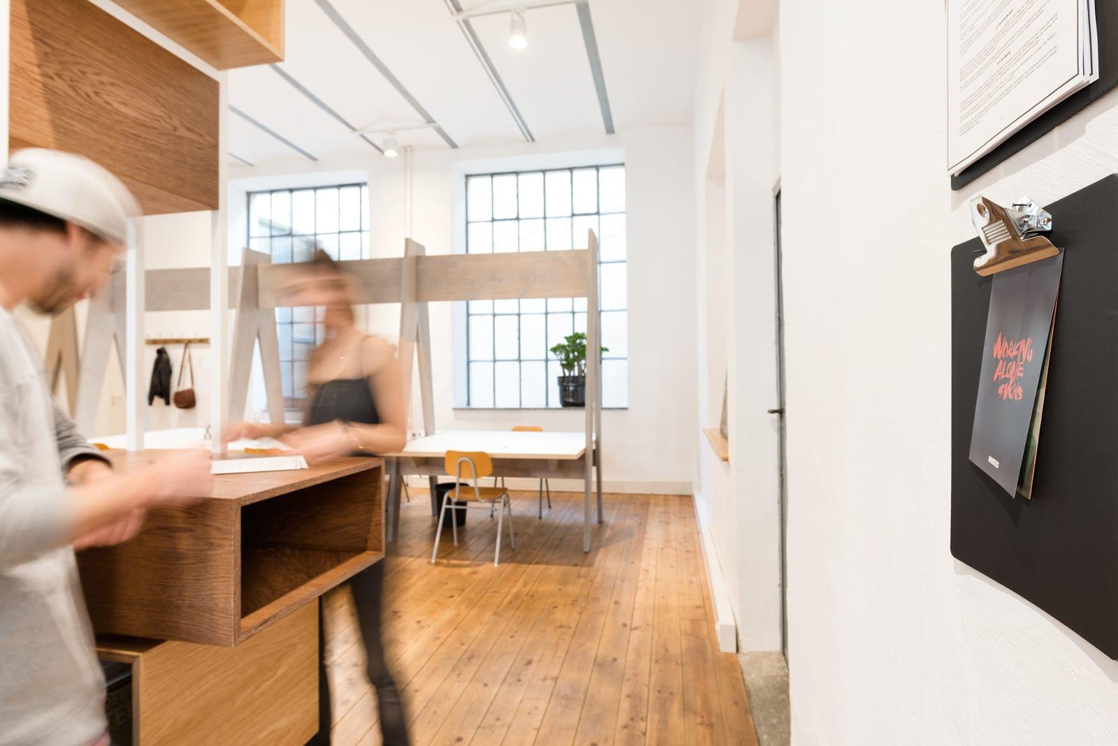 Flexibles Arbeiten im Coworking-Space Mates in München.