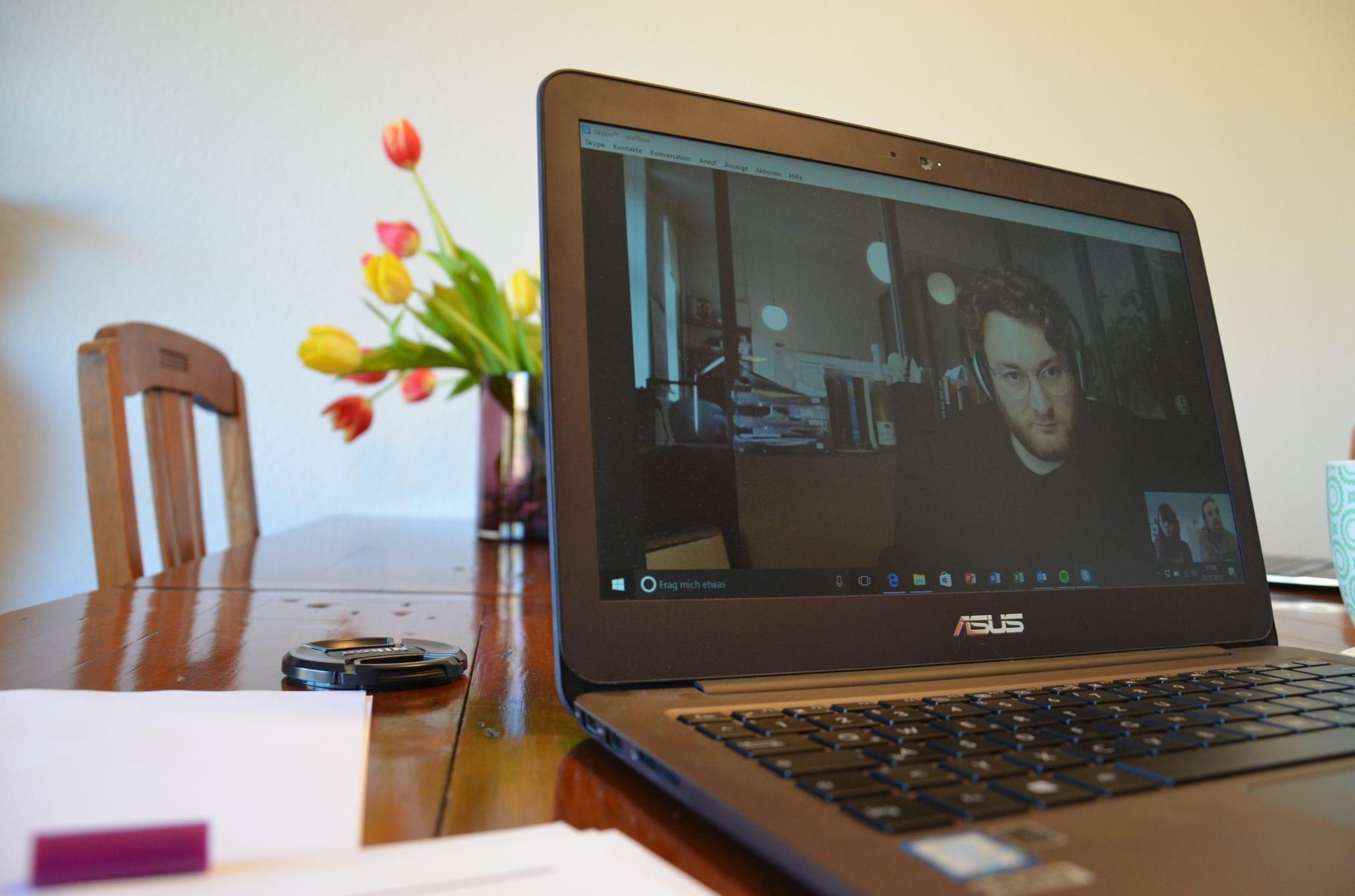 Digitales Interview über Skype